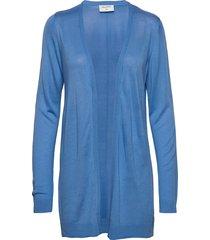 elina-l-car stickad tröja cardigan blå free/quent