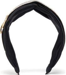 triangle clip strass embellished knot headband