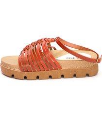 sandalia marrón valentia calzados