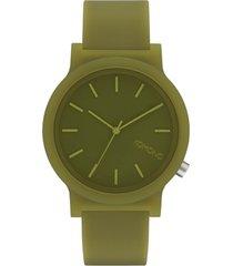 reloj analogo mono verde oscuro komono