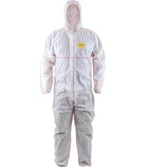 traje de protección tyveck bioseguridad steelpro certificado