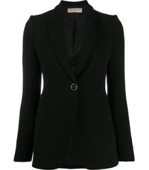 emilio pucci puckered shoulder blazer - black