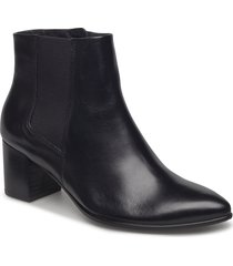 shape 45 pointy block shoes boots ankle boots ankle boots with heel svart ecco