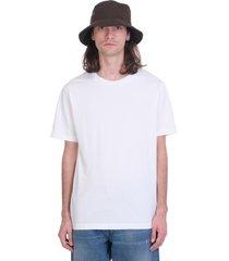 acne studios everest t-shirt in white cotton