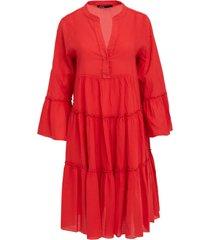 katoenen jurk rosaline  rood