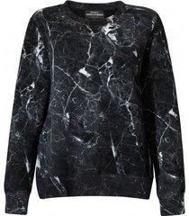 bluza damska marmur czarna