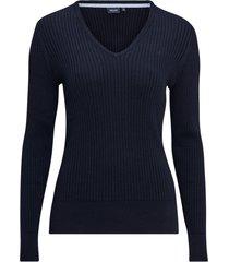 tröja v-neck ribknit pullover