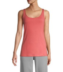 eileen fisher women's slim tank top - bright sandstone - size l