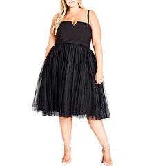 plus size women's city chic power princess fit & flare dress