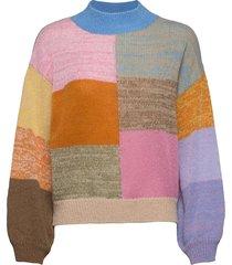 adonis, 1144 gingham knit gebreide trui multi/patroon stine goya