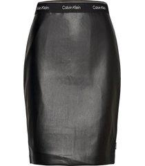 mixed media pencil skirt kort kjol svart calvin klein