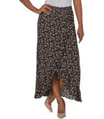 just polly juniors' printed ruffle maxi skirt