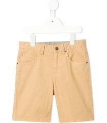 velveteen dexter five pocket shorts - brown