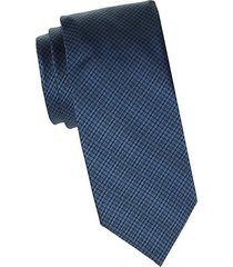 geo-print houndstooth silk tie
