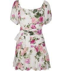 multicolor cotton-blend ambrette dress