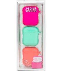 sarina airpods silicone case set - multi