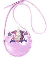 bolsa plugt redonda infantil unicórnio feminina