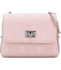 abel & lula bolsa tiracolo com estampa de poás - rosa