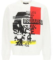 dsquared2 punk logo crewneck sweatshirt