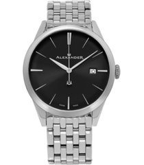 alexander watch a911b-03, stainless steel case on stainless steel bracelet
