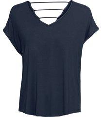 maglia in jersey con fettucce sulla schiena (blu) - bodyflirt