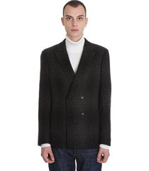 z zegna jacket in black wool
