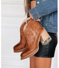 botineta de cuero suela becca shoes tanus