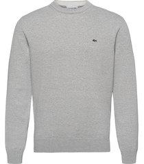 mens sweater stickad tröja m. rund krage grå lacoste