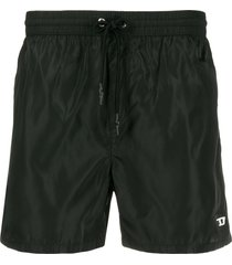 diesel chino-style swim shorts - black