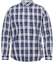 barbour indigo 11 tail skjorta casual blå barbour