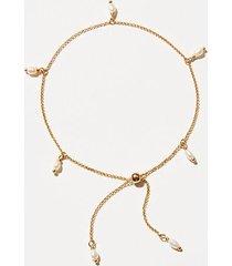 loft lou & grey pearl chain bracelet