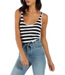 n:philanthropy women's istanbul striped bodysuit - black - size s