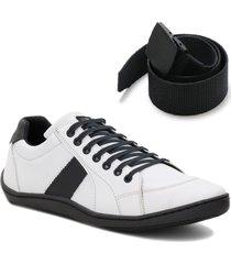 sapatênis casual tênis masculino form's original + cinto cinza