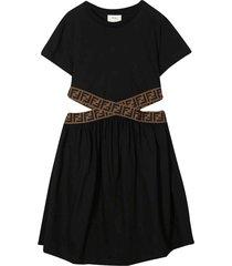 fendi black dress with cut-out detail