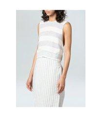 top thin osklen stripes-azul/offwhite
