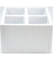 organizador porta talher fibra sintética 20x20x14 - branco
