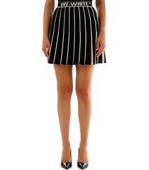off-white knit mini skirt