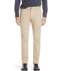 ermenegildo zegna stretch cotton five pocket pants, size 42 in light beige at nordstrom