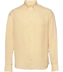 levon shirt 5969 overhemd casual geel nn07