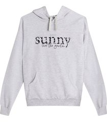 buzo hoodie sunny color gris, talla l