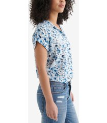 lucky brand floral-print top