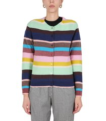 ps by paul smith multicolour striped cardigan