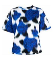 kenzo camiseta com estampa floral - azul