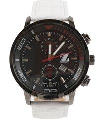 reloj blanco billionz cuero