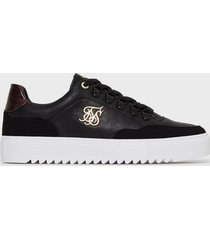 siksilk gravity sneakers black/burgundy