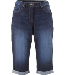 bermuda in jeans elasticizzati con cinta comoda (nero) - bpc bonprix collection