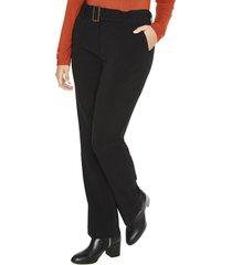 pantalon formal pierna recta liso negro lorenzo di pontti
