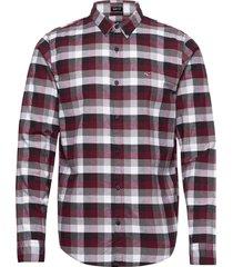 slim ox pattern skjorta casual röd hollister