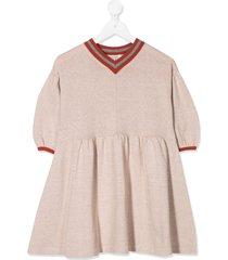 caramel islington sweater dress - neutrals