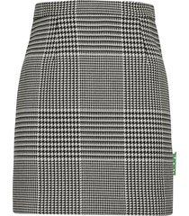 off-white pied de puole mini skirt